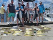 Phideaux Fishing, Aron with mahi, black and yellow fin
